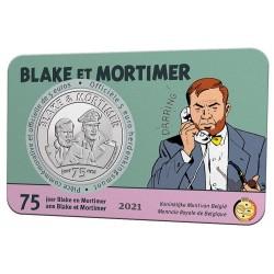 Belgie 5 euro 2021 Blake en Mortimer BU in coincard