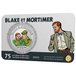 Belgie 5 euro 2021 Blake en Mortimer BU in coincard KLEUR