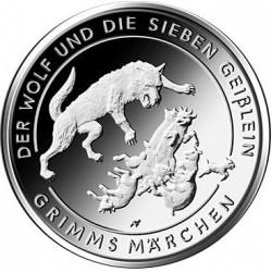 Duitsland 20 euro 2020 D Grimms Marchen: De Wolf En De Zeven Geitjes UNC