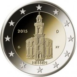 Duitsland 2 euro 2015 'Hessen - Pauluskirche in Frankfurt' UNC