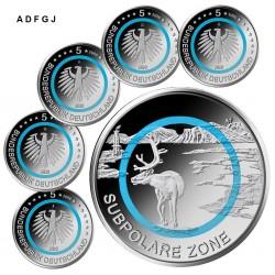Duitsland 5 euro 2020 Subpolare Zone UNC ADFGJ