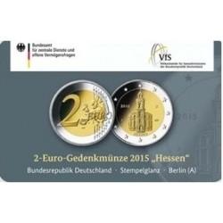 Duitsland 2 euro 2015 'Hessen - Pauluskirche in Frankfurt' in coincard A (Berlin)
