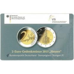 Duitsland 2 euro 2015 'Hessen - Pauluskirche in Frankfurt' in coincard F (Stuttgart)