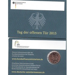 Duitsland 1 cent 2015 'Tag der offenen Tür 2015' in coincard A (Berlijn)