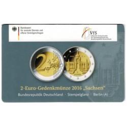 Duitsland 2 euro 2016 'Sachsen - Zwinger von Dresden in coincard A (Berlin)