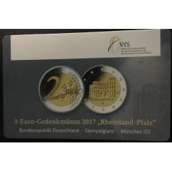 Duitsland 2 euro 2017 'Rheinland Pfalz - Porta Nigra'  in coincard D (Munchen)