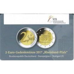 Duitsland 2 euro 2017 'Rheinland Pfalz - Porta Nigra'  in coincard F (Stuttgart)