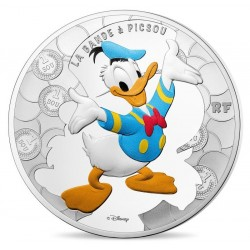Frankrijk 10 euro 2017: Ducktales Donald Duck - silver proof coin