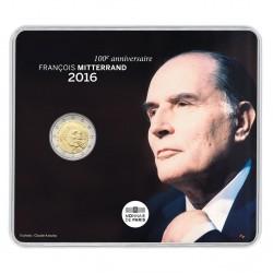 Frankrijk 2 euro 2016 'Francois Mitterrand' BU in blister coincard