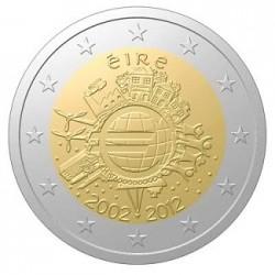 Ierland 2 euro 2012 'Tien jaar Euro' UNC