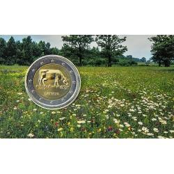 Letland 2 euro 2016 'Letse Agrarische Industrie - bruine koe' in coincard