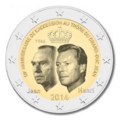 Luxemburg 2 euro comm 2014 '50 jaar Troonsbestijging Grootherthog Jean' UNC
