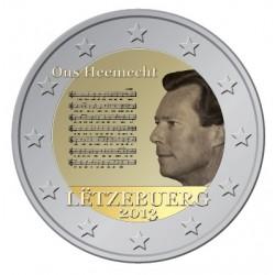 Luxemburg 2 euro comm 2013 'Nationaal Volkslied' UNC
