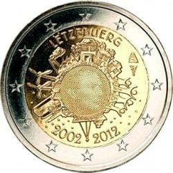 Luxemburg 2 euro comm 2012 'Tien jaar Euro' UNC