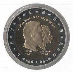 Luxemburg 2 euro 2005 'Henri en Adoplhe´ UNC Frans muntteken