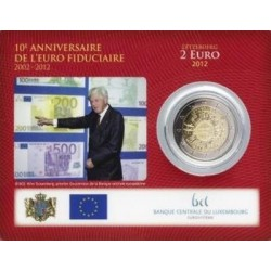 Luxemburg 2 euro 2012 'Tien jaar Euro' BU coincard