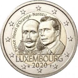 Luxemburg 2 euro 2020 Hendrik van Oranje Nassau - UNC muntteken Leeuw + Mercuriusstaaf