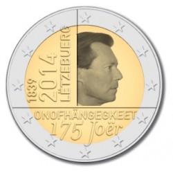 Luxemburg 2 euro comm 2014 '175 jaar onafhankelijkheid' UNC