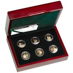 Luxemburg 2 euro 2009-2012 proofset - 6 munten