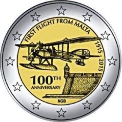 Malta 2 euro 2015 'Eerste vlucht vanuit Malta' UNC