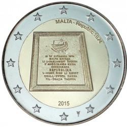 Malta 2 euro 2015 'Proclamatie van de Republiek in 1974' BU met muntmeesterteken