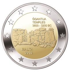Malta 2 euro 2016 'Ggantija Tempels' UNC met Malteser muntteken