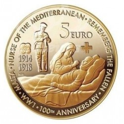Malta 5 euro 2014 UNC - World War I