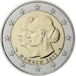 Monaco 2 euro 2011 Huwelijk Prins Albert II & Charlene Unc