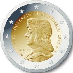 Monaco 2 euro 2012 Grimaldi, soevereiniteit UNC