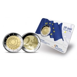 Nederland 2 euro 2015 'Europese Vlag' BU in coincard