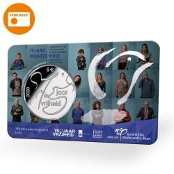 Nederland 5 euro 2020 75 Jaar Vrijheid UNC in coincard