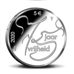 Nederland 5 euro 2020 75 Jaar Vrijheid UNC