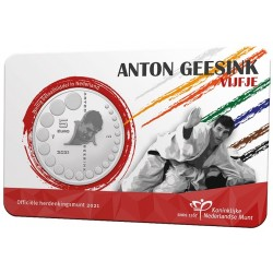 Nederland 5 euro 2021 Anton Geesink UNC in coincard