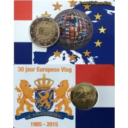 Nederland 2 euro 2015 'Europese Vlag' UNC in coincard - speciale serie