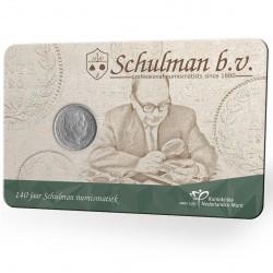 Nederland 2020: 140 jaar Schulman in coincard (5 cent 1850)