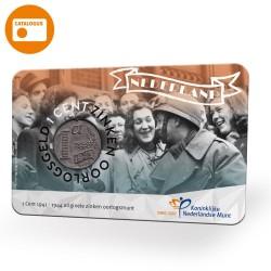 Nederland 2020: 75 jaar Bevrijding in coincard (1 zinken cent 1941-1944)