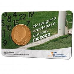 Nederland 2021: EK Vijfje 2000 in coincard (5 gulden 2000)