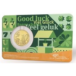 Nederland 10 cent 2021: Geluksdubbeltje in coincard