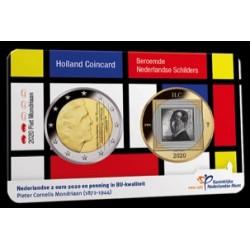 Nederland 2 euro 2020 Holland Coin Fair Coincard: Schilders 2 - Piet Mondriaan