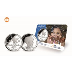 Nederland 2018 penning in coincard - Make A Wish Foundation