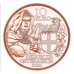 Oostenrijk 10 euro 2021 Broederschap (koper) UNC