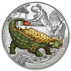 Oostenrijk 3 euro 2020 Dinosaurs: 4 Ankylosaurus Magniventris UNC