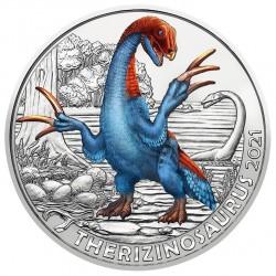 Oostenrijk 3 euro 2021 Dinosaurussen: 6 Therizinosaurus UNC