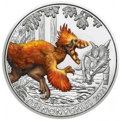 Oostenrijk 3 euro 2021 Dinosaurussen: 7 Deinonychus Antirrhopus UNC