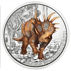 Oostenrijk 3 euro 2021 Dinosaurussen: 8 Styracosaurus Alberensis UNC