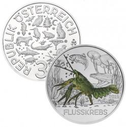 Oostenrijk 3 euro 2019 De Rivierkreeft UNC