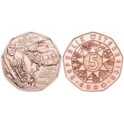Oostenrijk 5 euro 2015 'Bundesheer – Schutz und Hilfe´ UNC