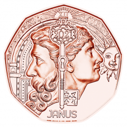 Oostenrijk 5 euro 2021 Neujahrsmunze - Janus UNC