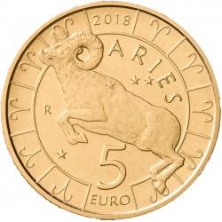 San Marino 5 euro 2018 'Dierenriem - Ram´ UNC