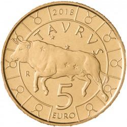 San Marino 5 euro 2018 'Dierenriem - Stier´ UNC